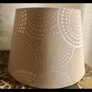 Other - Beige & white lampshade with a decorative designs